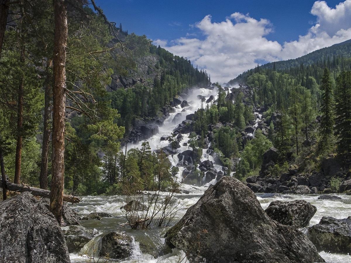 День 4 - Водопад Учар (Большой Чульчинский водопад) /пешком 20 км туда-обратно/